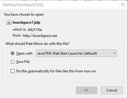 BoardSpace net Login Page
